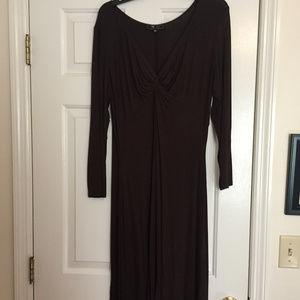 Lilly Black Midi Dress - XL